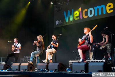 Ceilidh band Blackbeard's Tea Party, from York, perform in Hull